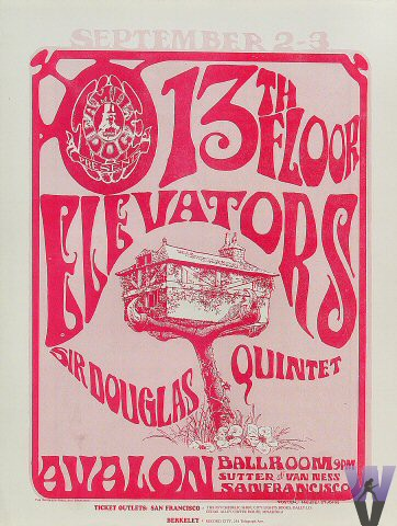 1966 09 02 sir douglas quintet usa san francisco for 13th floor elevators electric jug